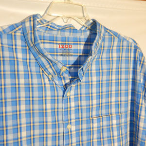 Izod Button Down Casual Shirt, Big and Tall